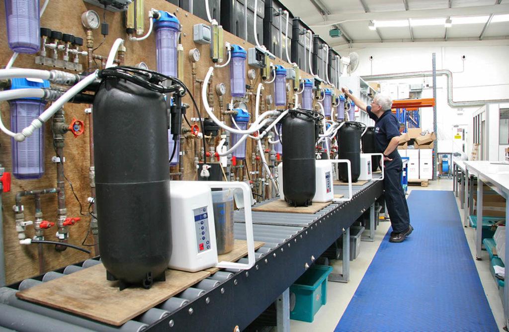 productie industriële waterontharders